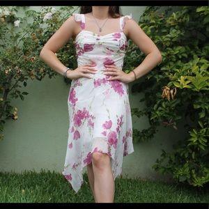 Vintage flower midi dress